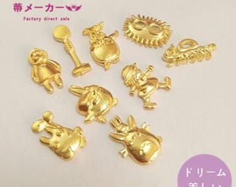 Totoro embellishment,resin embellishment,uv resin,gold charms,gold embellishment,resin charm