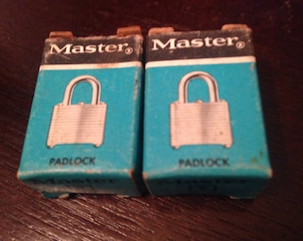 Vinge Master Lock Mini Pad Lock Number 9 Lock With Keys