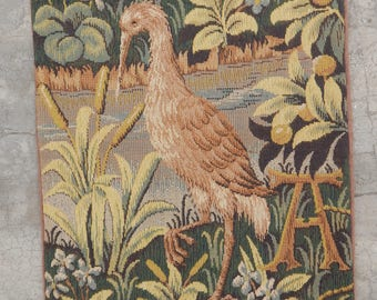 French Medieval Beautiful Bird Tapestry (44X35cm)