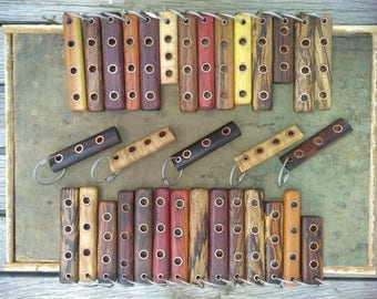 Beautiful One of a Kind handmade exotic wood and copper keychains