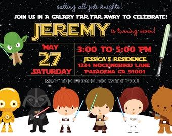 Star Wars Birthday Invitation Star Wars Theme Party