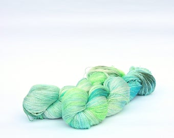 Neon- Hand Dyed Yarn -  lace 100% mulberry silk