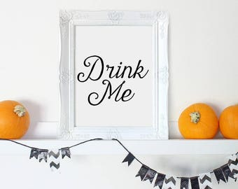 Halloween Digital, Halloween Art, Halloween Party Sign, Halloween Props, Drink Me Sign, Printable Halloween, Haloween, Halloween Wall Art
