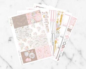 Blushing Floral Vertical Kit   Planner Stickers fits Erin Condren