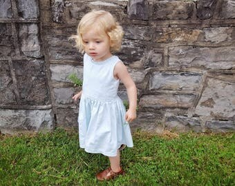 Floral summer dress, little girl dress, baby girl dress, floral embroidered dress, flower dress, summer dress, baby shower gift,ruffle dress