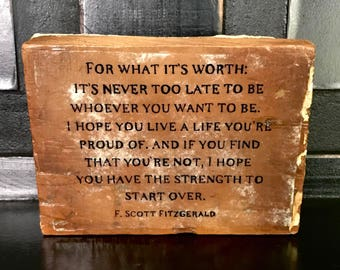 Live a life you're proud of Wood Sign