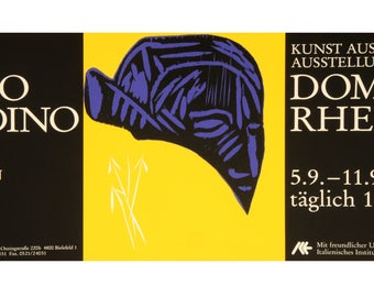 MIMMO Paladino · Gallery Jesse · Bielefeld· Poster· Art from Italy · Cathedral Rheda · 1992