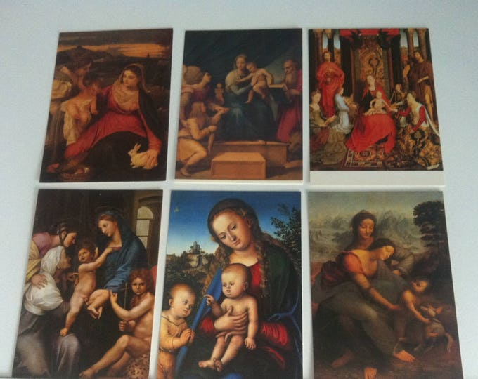 Vintage 6 pieces Postcards Religion Madonna Maria Church Postcard Photo