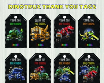 Dinotrux Thank you, Dinotrux Gift Tags, Dinotrux Editable, Dinotrux Party, Dinotrux Party, Diy, Decorations, Dinotrux