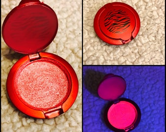 UV Rave Strawberry scented iridescent vegan Blacklight Blush