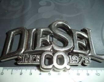 belt buckle diesel width 4 cm from silver metal