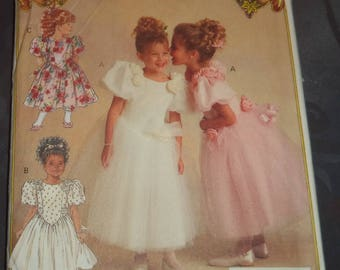 pattern butterick tulle girl dress size 5-6 years of use
