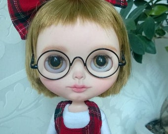 FREE SHIPPING OOAK custom Blythe doll, Original Blythe doll with short hair, Blythe doll Varsity Dean with clothes, shoes