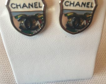 Chanel Shield CC earrings