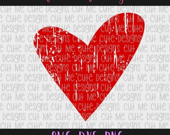 SVG DXF PNG cut file cricut silhouette cameo scrap booking Distressed Grunge Heart