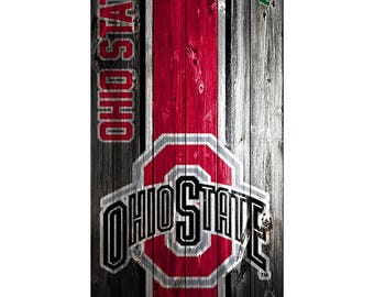 Please Read The Item Details - CUSTOM VINYL Cornhole Boards DECAL Ohio State Wood  Bag Game Sticker
