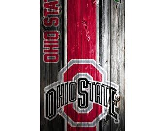 Please Read The Item Details - CUSTOM VINYL Cornhole Boards DECAL Ohio State Wood  Bag Game Sticker