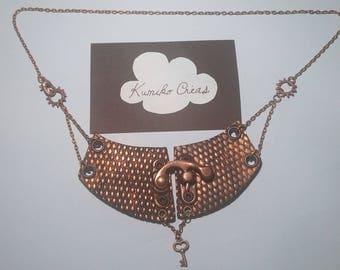 Bronze steampunk style necklace