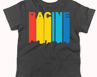Retro 1970's Style Racine Wisconsin Skyline Infant / Toddler T-Shirt