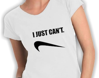"""I just can't women v neck t shirt"