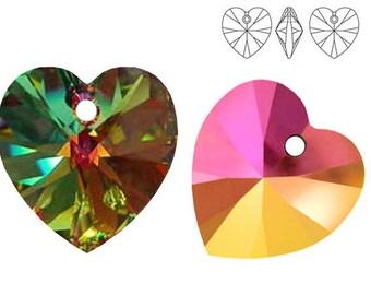 Swarovski Crystal 6228 Heart 10mm,  14mm - Vitrail Medium
