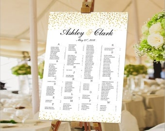 12 Hours, Wedding Seating Chart, Wedding seating chart alphabetical, Wedding Seating Chart Template, Seating chart printable, Seating chart