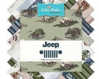 Riley Blake Jeep Fabric Collection - 18 Fat Quarters
