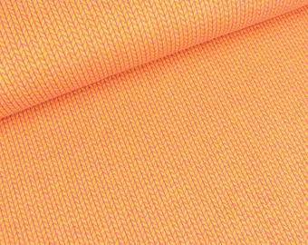 Jacquardjersey knit knit melange Edition colza-ortensia (23.90 EUR / meter)