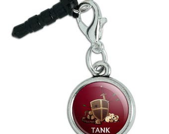 Tank Warrior RPG MMORPG Class Role Playing Game Mobile Cell Phone Headphone Jack Anti-Dust Charm fits iPhone iPod Galaxy