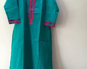 Indian Kurti Kurta Embroidery tunic top