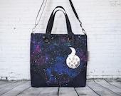 Galaxy Vegan Waterproof, Handbag, Shoulder Bag, Crossbody, Washable Paper, Washpapa