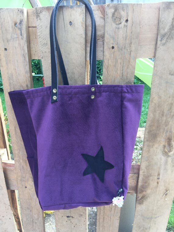 Eggplant suede leather handles handbag