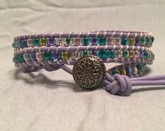 Lilac Fields Wrap Bracelet