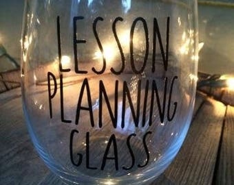 Lesson Planning Glass