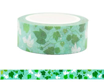Wonderful Green Leaves Washi Tape - Japanese Style Leaves & Flowers Pattern Masking Tape