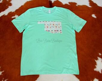 Shoot your arrow! Oklahoma T-Shirt-Mint Green T-shirt