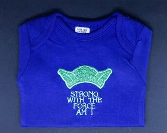 Baby Yoda Embroidered Onesie