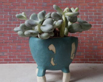 4 ceramic pot feet Emerald
