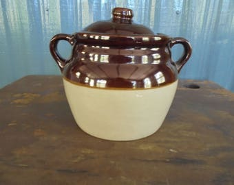 Vintage Bean Pot Made in Monmouth, IL