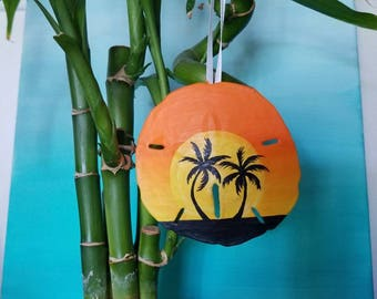 TV Sunset Sand Dollar Ornament