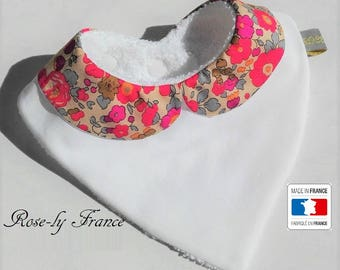 SALE! Peter Pan collar bandana bib liberty betsy fluorescent tea