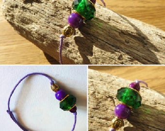 Waxed cotton bracelet 16309