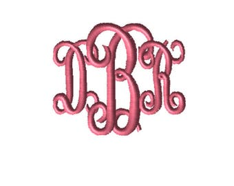 Choose Your Size, CUSTOM Embroidery File, Monogram, , Digital File, Embroidery Pattern, Machine Embroidery, Babylock, Brother, Bernina