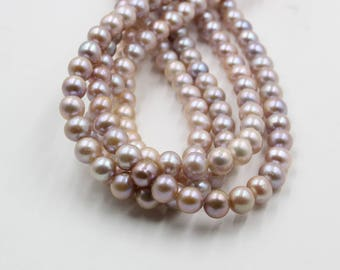 9 mm pink and purple round freshwater pearls, round pearl, full strand, round pearl strands, pearl wholesale