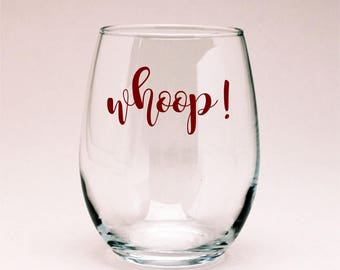 Texas A&M Whoop! Wine Glass