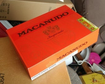 Red Macanudo Cigar Box