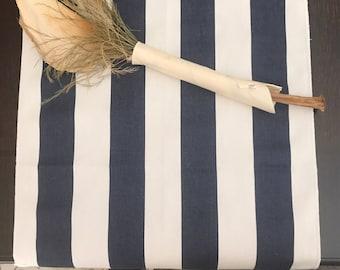 "Navy and White Striped Table Runner | 1.5"" stripe | Nautical Baby Theme | Wedding Table Runner | Nautical Baby Shower | Nautical Wedding"