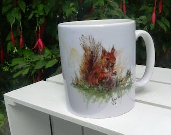 Red Squirrel Mug