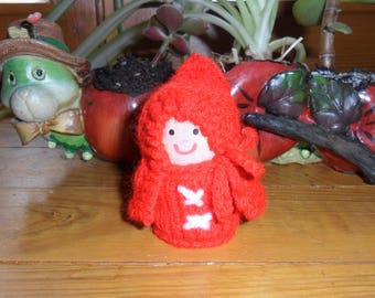 Miss Red Riding Hood (Cork and wool)
