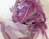 Fiber Art Bundle - Purple Haze, Spinning, Weaving, Art Yarn